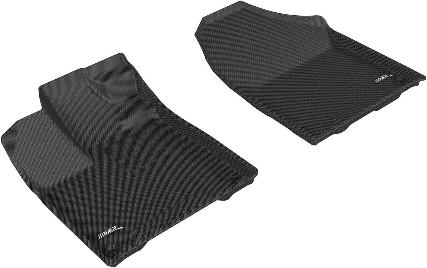 Kagu Rubber 3D MAXpider Complete Set Custom Fit All-Weather Floor Mat for Select Honda Pilot Models Gray