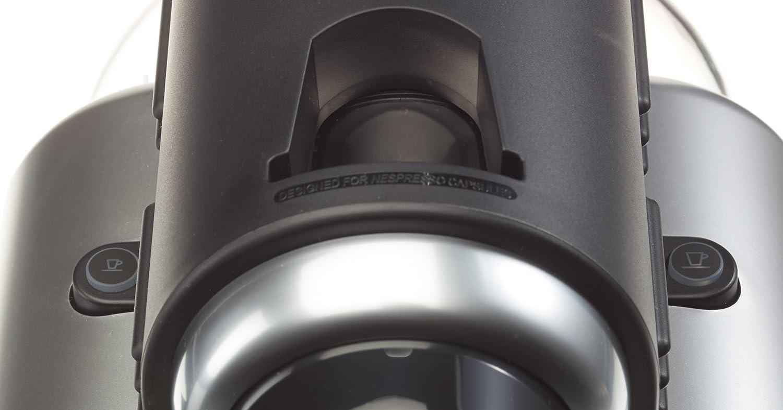 Cafetera monodosis 19 bares, Autom/ática y programable, Modo ahorro energ/ía Color plateado Nespresso Essenza Automatic Silver EN95S DeLonghi