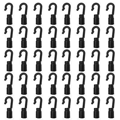 Zelerdo 40 Pack Kayaks Bungee Shock Cord Hook for 1/4 inch and 3/16 inch Rope: Sports & Outdoors [5Bkhe1006134]