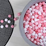 GOGOSO Kids Ball Pit Balls - Pack of 100 Plastic Balls for Ball Pit Phthalate Free BPA Free Crush Proof Pink Ball for Toddler