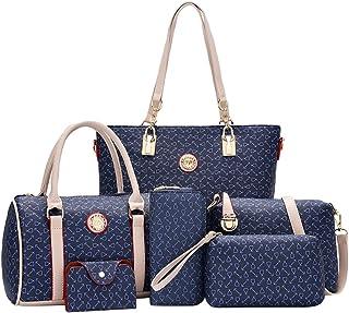 Kairuun Frauen Pfeilmuster Handtaschen Crossbody Beutel Wallet Mobiltelefon Geldbeutel Kartentasche 6 Stück Set