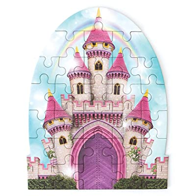 Playhouse Rainbow Princess Castle 26-Piece Die-Cut Shaped Mini Puzzle for Kids: Toys & Games