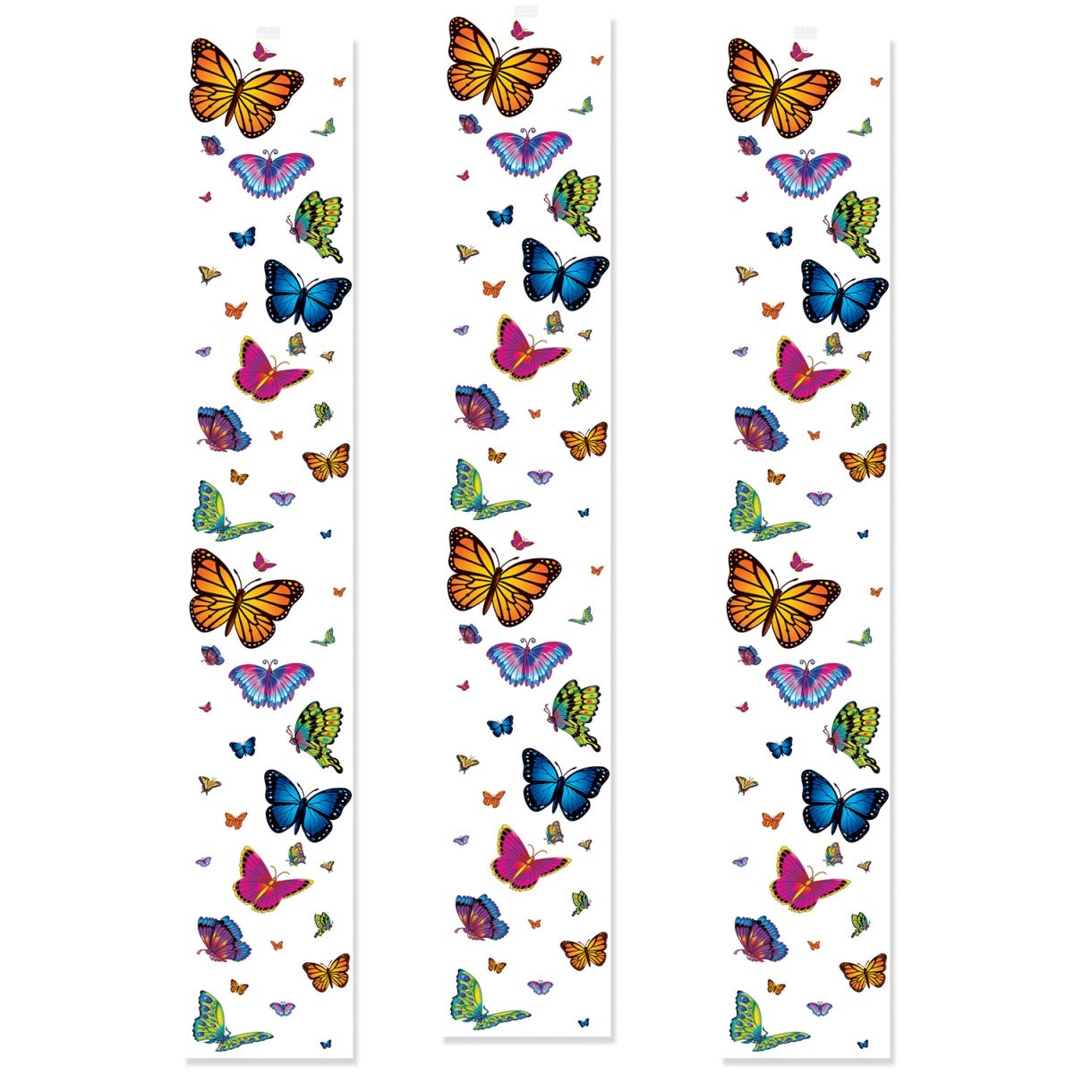 Beistle 54817 12 in. x 6 ft. Butterfly Party Panels - Pack of 12
