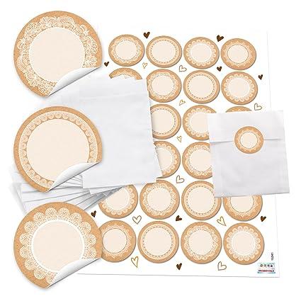10 pequeñas bolsas de papel 10,5 x 15 cm + 24 redondas en ...