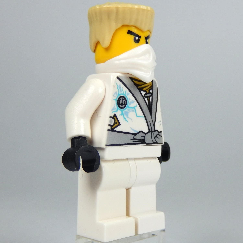 LEGO Ninjago: Minifigur Zane - Rebooted (weisser Ninja) mit Waffe NEU