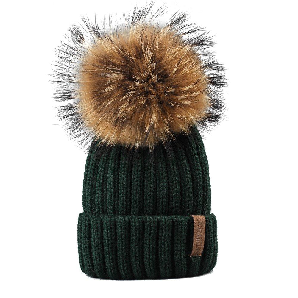 6cb1104f40e FURTALK Kids Winter Pom Pom Hat - Knitted Beanie Hats for Children Girls  Boys Original Smallhat01 ...