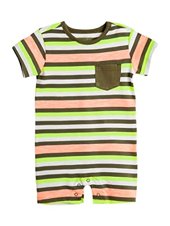 c6cebc8230d OFFCORSS Newborn Baby Boy Cotton Romper Organic Stripes Summer Clothing  Colorful Outfit Pajamas 1 Year Ropa