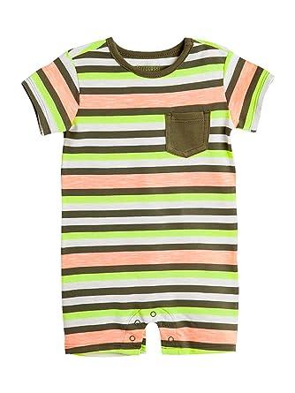 6a21b308d Amazon.com  OFFCORSS Baby Boy Cotton Romper Newborn Summer Set ...
