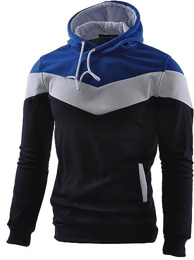 TALLA XS. Mooncolour Sudadera deportiva con capucha para hombre, muy confortable, diseño de colores, ideal para el otoño