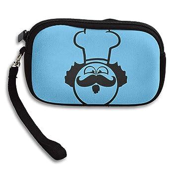 Amazon.com: Carteras para mujer Chef Mustache Cara Muñequera ...
