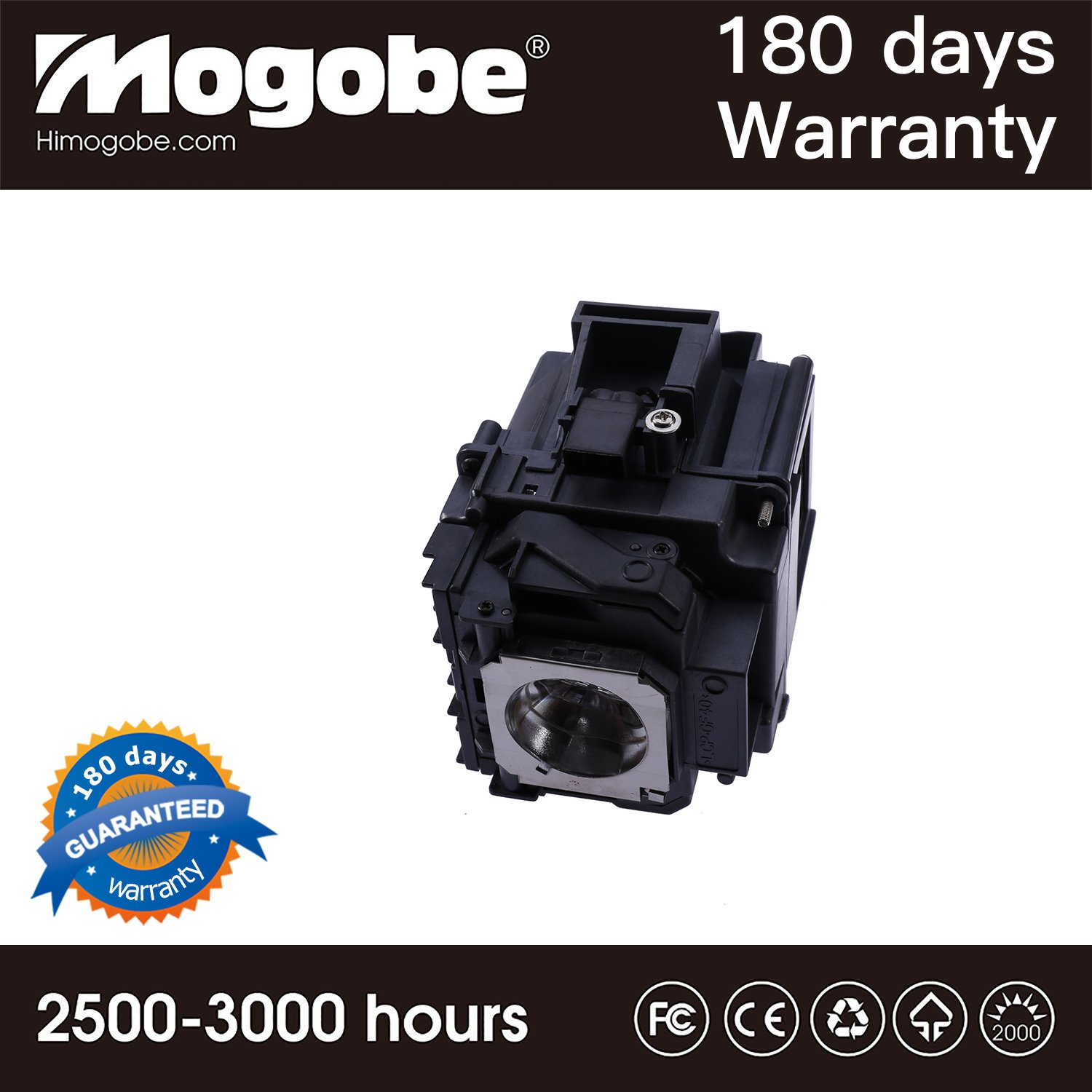 Watoman ELPLP76 Original Replacement Projector Lamp with Housing for Epson PowerLite Pro G6050W G6050WNL G6070W G6070WNL G6150 G6150NL G6170 G6170NL G6270W G6270WNL G6450WU G6550WU G6750WU G6800 G6900