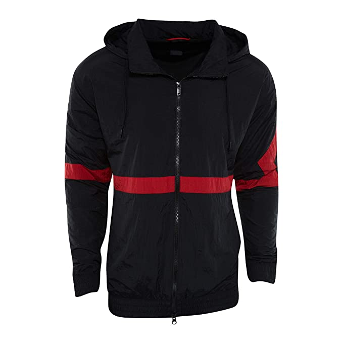 338a79ea4019c7 Jordan Sportswear Diamond Track Windbreaker Men Black  Amazon.co.uk   Clothing