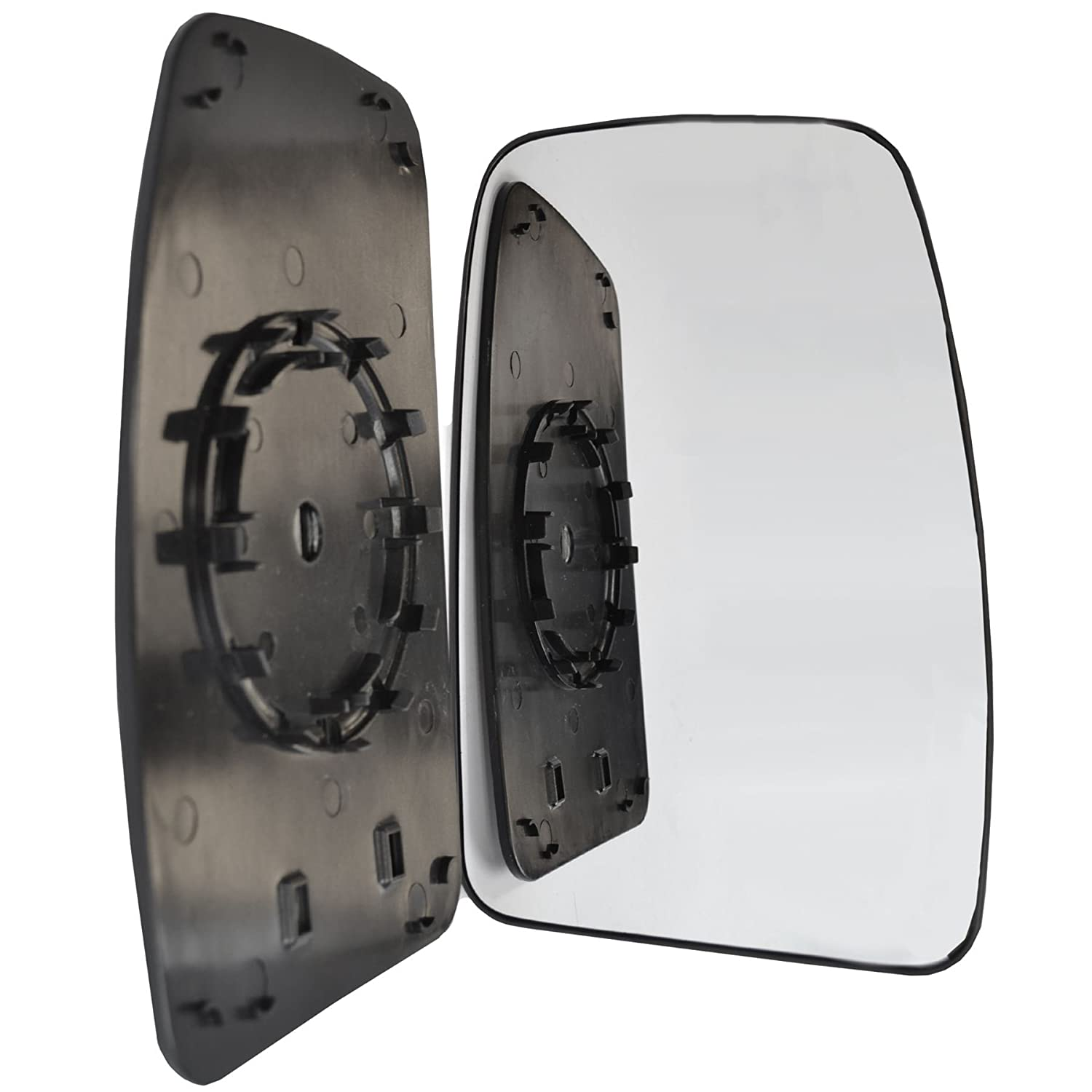 Driver right hand side wing door Silver mirror glass with backing plate #W-SN/R-RTMSR10 Sylgab Sp. z o.o