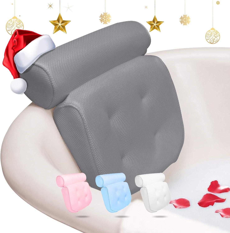 szlsl88 Badekissen Ergonomische Badewanne Spa Kissen Pu-Leder Anti Slip Zubeh/ör Nackenst/ütze Bad Home Weiche Saugnapf Komfortable Kopfst/ütze