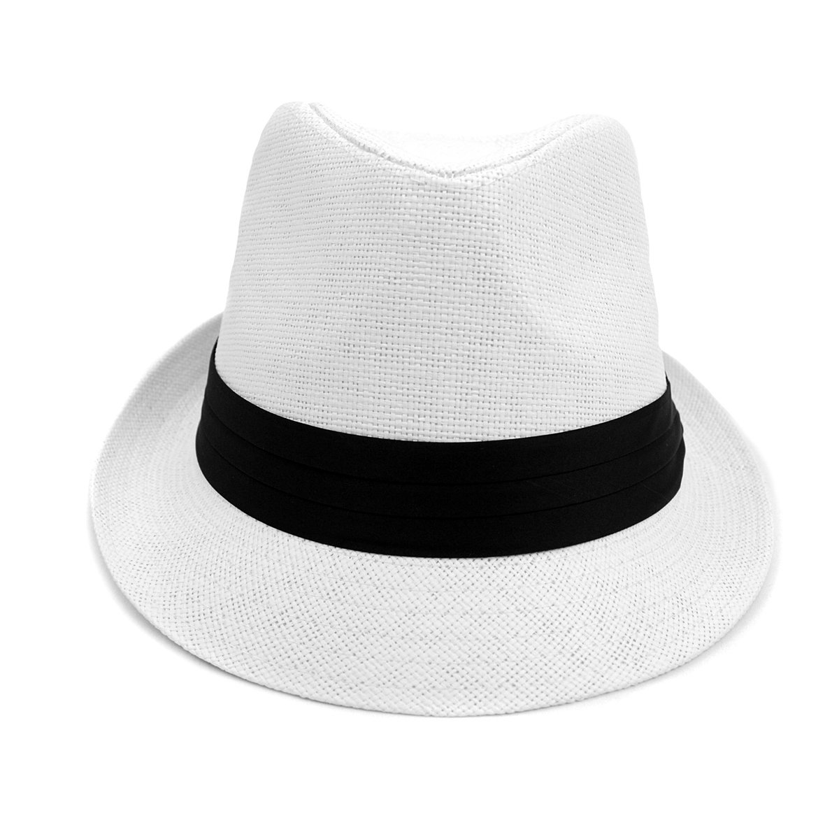 a069dd87db3 Men & Women Summer Fedora Hat with Black Band at Amazon Men's Clothing  store: