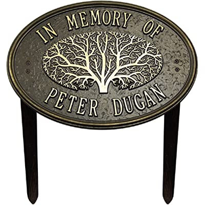 Whitehall 2 Line Personalized - Great Oak Tree Memorial Lawn Plaque 14.25