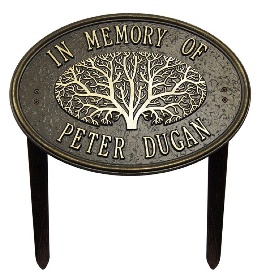 2 Line Personalized - Great Oak Tree Memorial Lawn Plaque