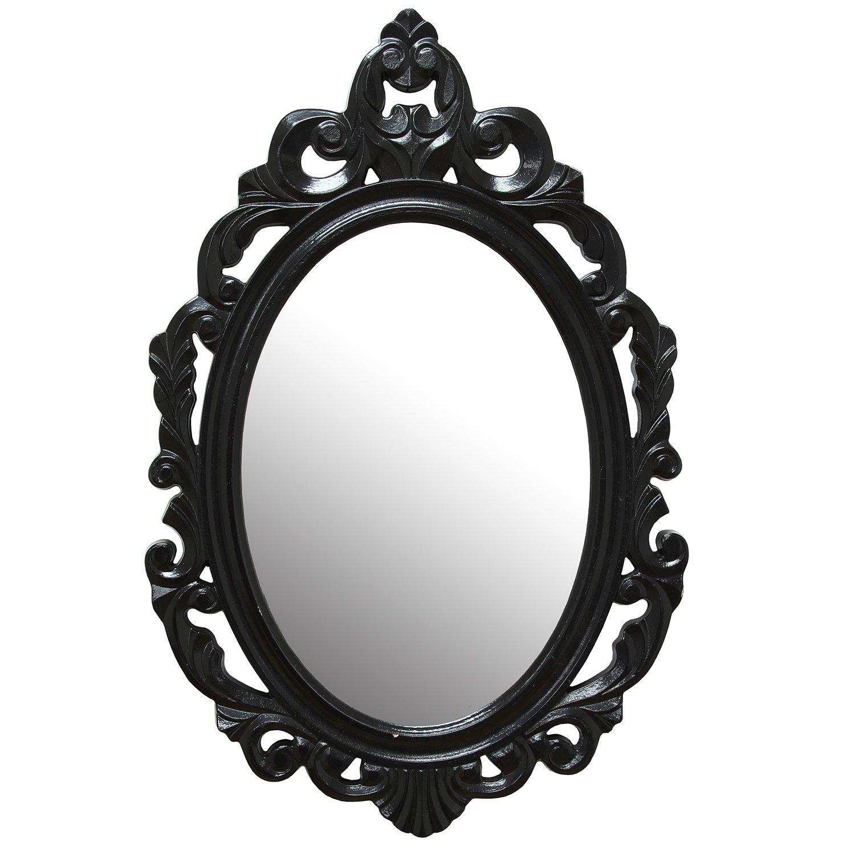Stratton Home Décor SHD0059 Baroque Wall Mirror, Black