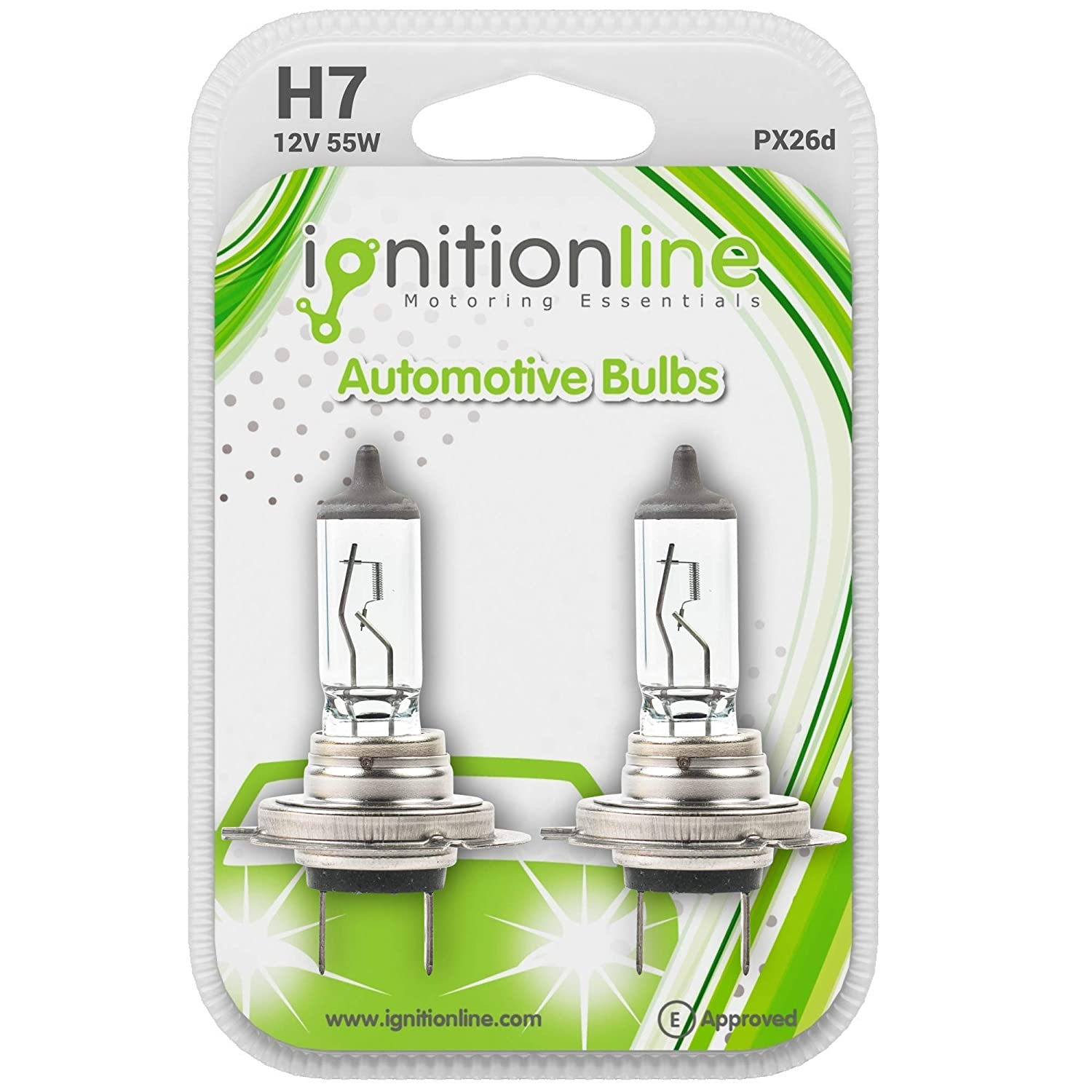 IgnitionLine H7 499 12V 55W Standard Halogen Headlamp Headlight Car Bulbs 2 PIN PX26d (Pack Of 2)