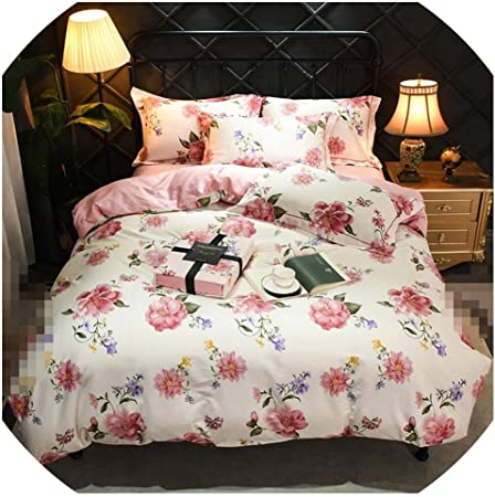 Country Cottage Floral 100/% Cotton Bedspread Quilt Coverlet Shabby Chic Blue