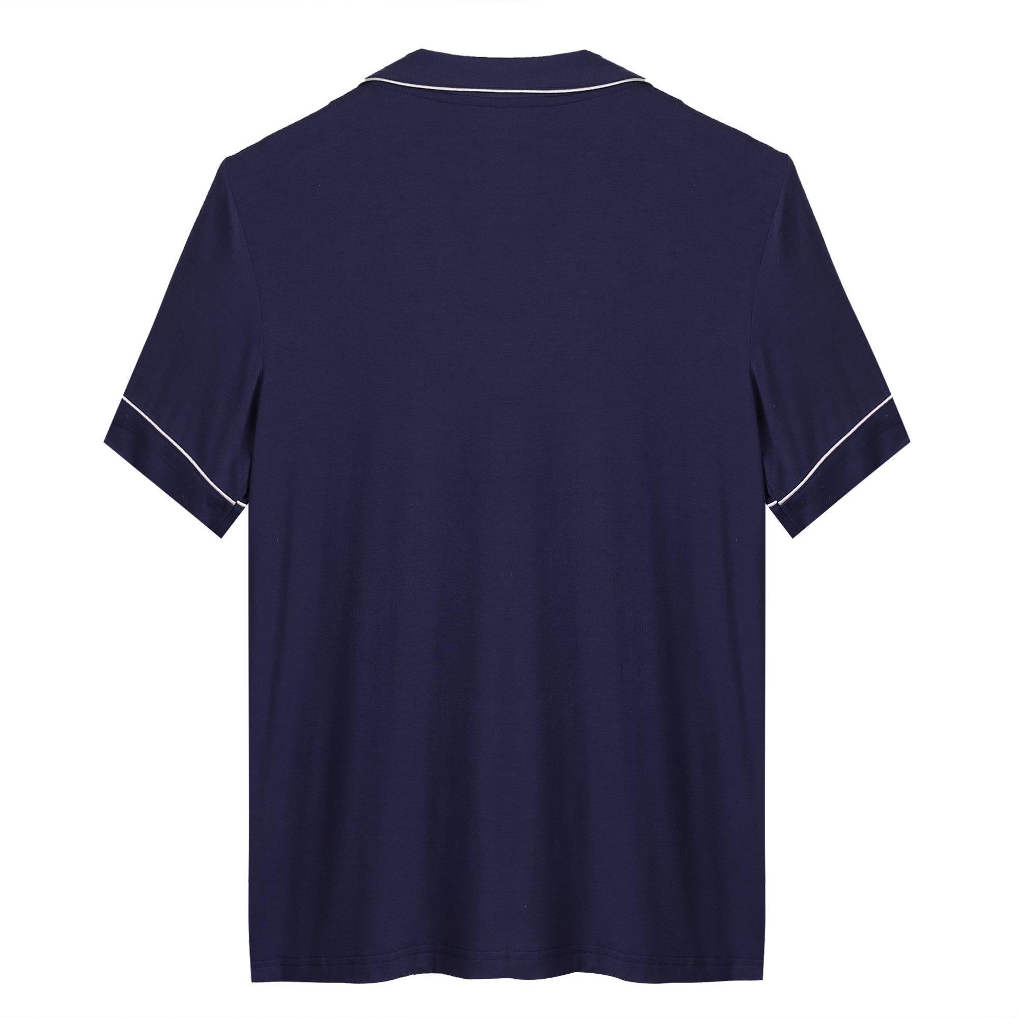 Womens Pajamas Short Sets AMP005 Navyblue M by Seaside (Image #5)