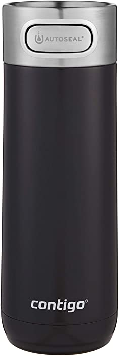 Contigo Luxe AUTOSEAL Vacuum-Insulated Travel Mug | Spill-Proof Coffee Mug with Stainless Steel THERMALOCK Double-Wall Insulation, 16 oz, Licorice