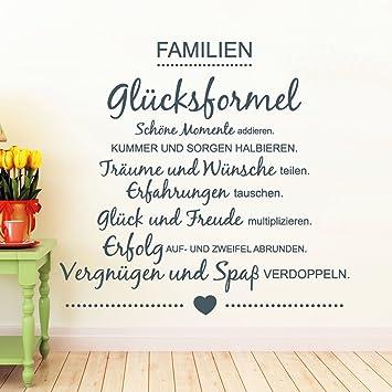 Wandtattoo Loft Wandaufkleber Familie Glücksformel Familienglück
