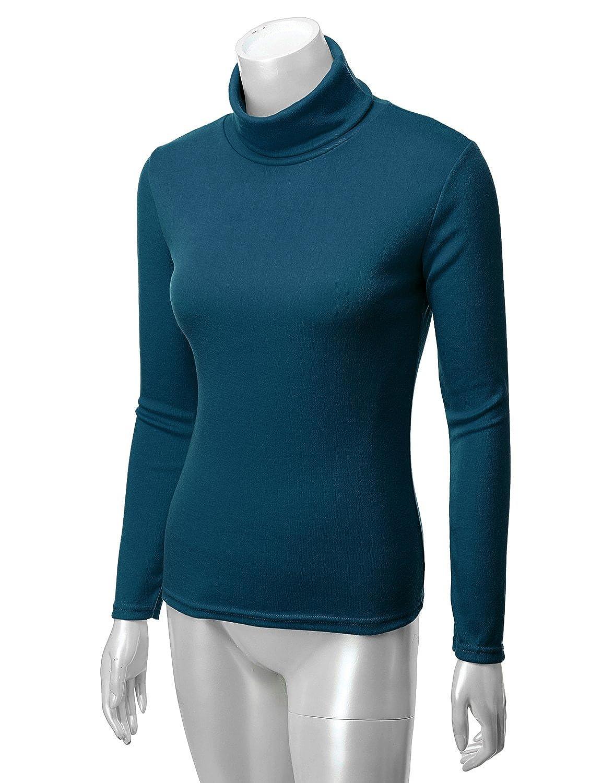 Doulbju Slim Fit Turtleneck Sweater Top (Plus Navy 2XL at Amazon Women s  Clothing store  b0783574e