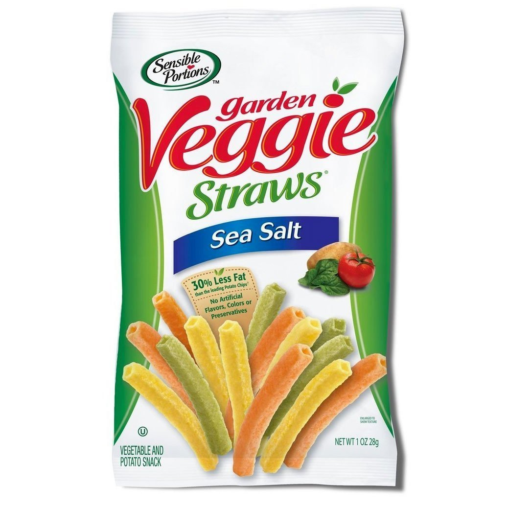 Garden Veggie Snack, Straws Shape Chips Variety Pack, 1 Oz Bags (31 Bags) by Sensible Portions