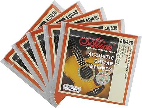 Alice 5 piezas con revestimiento de cuerdas para guitarra Folk ...