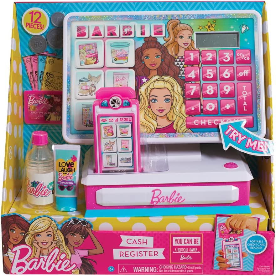 Barbie Deluxe Cash Register 12 PCs: Amazon.es: Juguetes y juegos