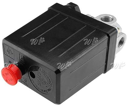 240V 4 Port Air Compressor Pressure Switch Valve Control Heavy Duty 145PSI
