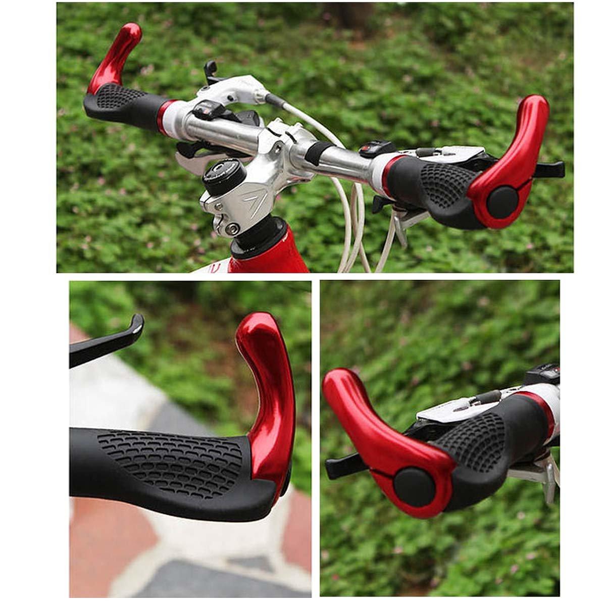 Kenthia Anti-slip Rubber Aluminum Alloy Bicycle Handlebar Grips Human Mechanics Design Black by Kenthia (Image #5)