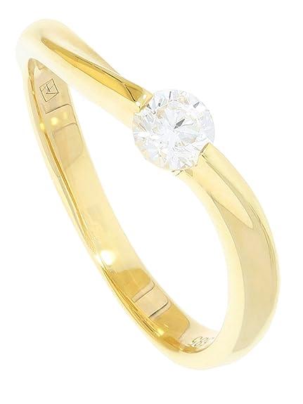 MyGold Mujer Anillos de Compromiso Anillo Oro Amarillo 585 oro (14 ...