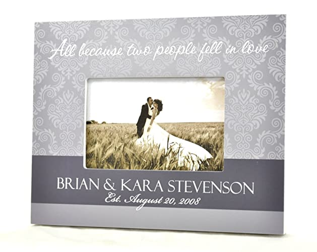 Amazon.com: All Because Two People Fell In Love Personalized Wedding ...
