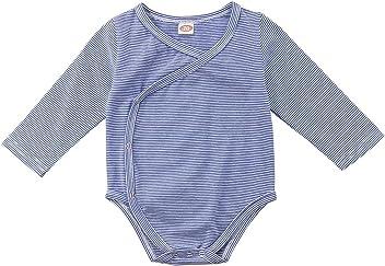 d2b8bc2e83d Imcute Newborn Baby Boys Girls Striped Wrap Snap Romper Bodysuit Swaddle  Clothes Outfit