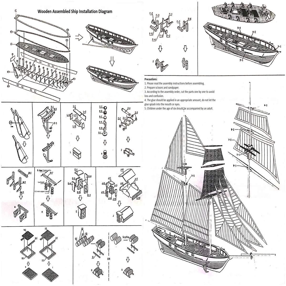 Amazon com: ZAMTAC Wooden Sailing Boats Wood Crafts Home