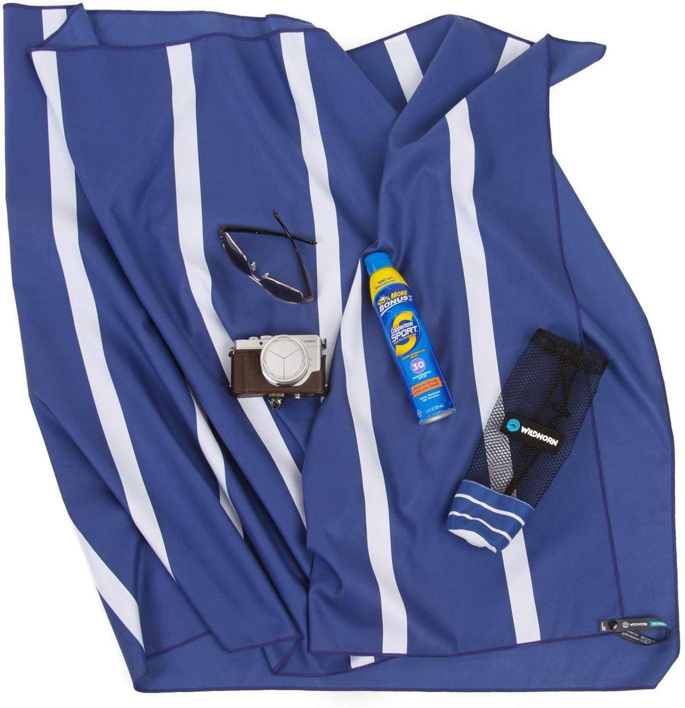 ultra compacta extra absorbente 198,10x88,90/cm Viaja mejor que las toallas de playa. Ideal para viajes a la playa y camping Toalla de playa de microfibra Akumal Toalla de viaje de secado r/ápido