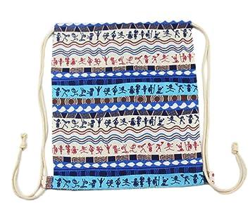 WA cordón mochila Bolsa de lona bolso de hombro mochila deporte bolsas escuela Estudiantes Mochilas: Amazon.es: Hogar