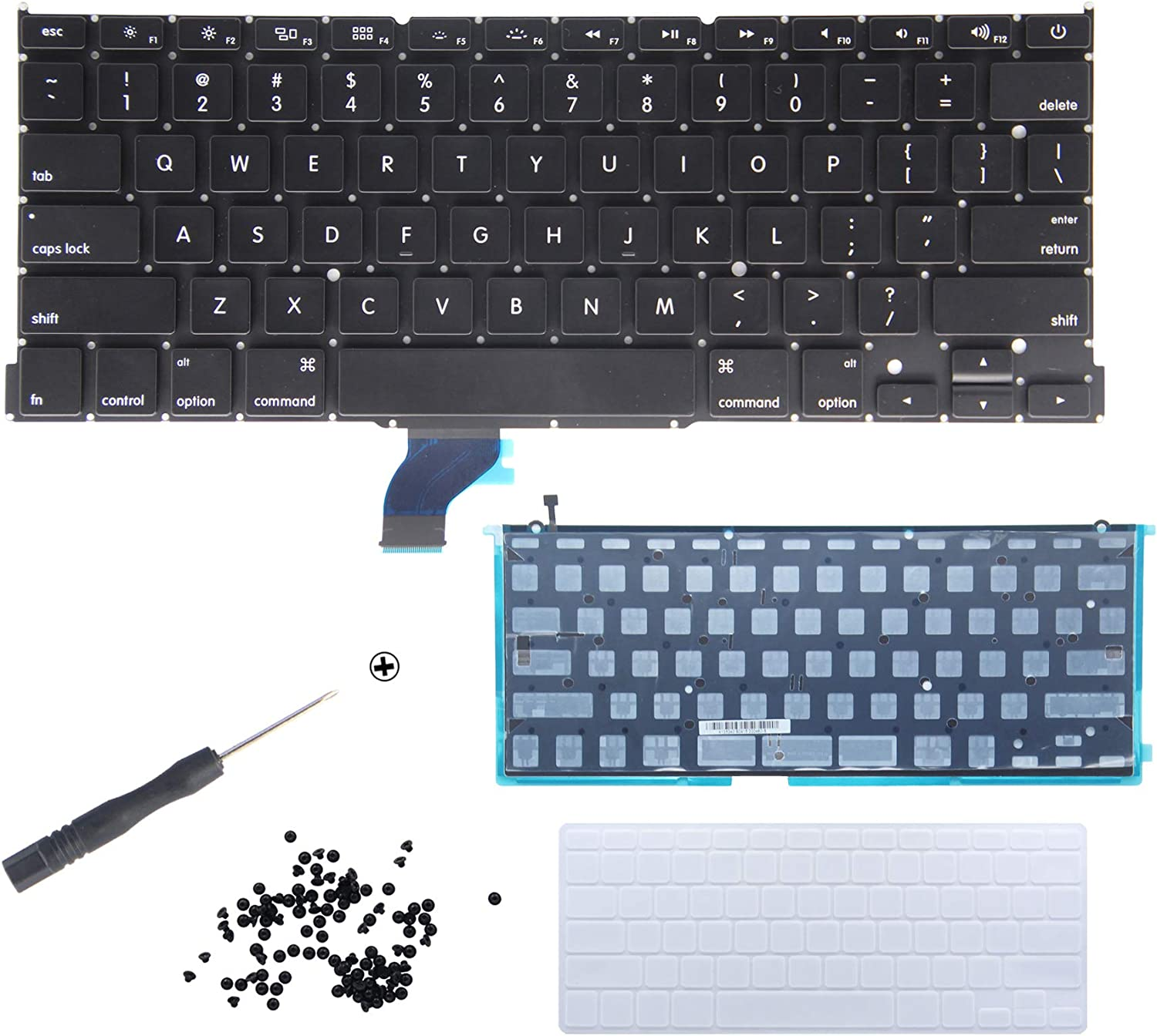 New Laptop Replacement Keyboard With Backlight Backlit For MacBook Pro 13-inch