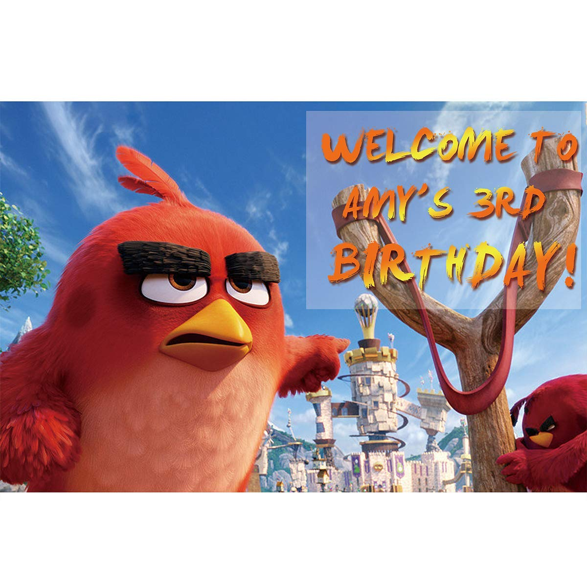 Num553 Backdrop Customized for Birthday Decor HoRmi Replacement for Angry Birds Party Decoration Supplies