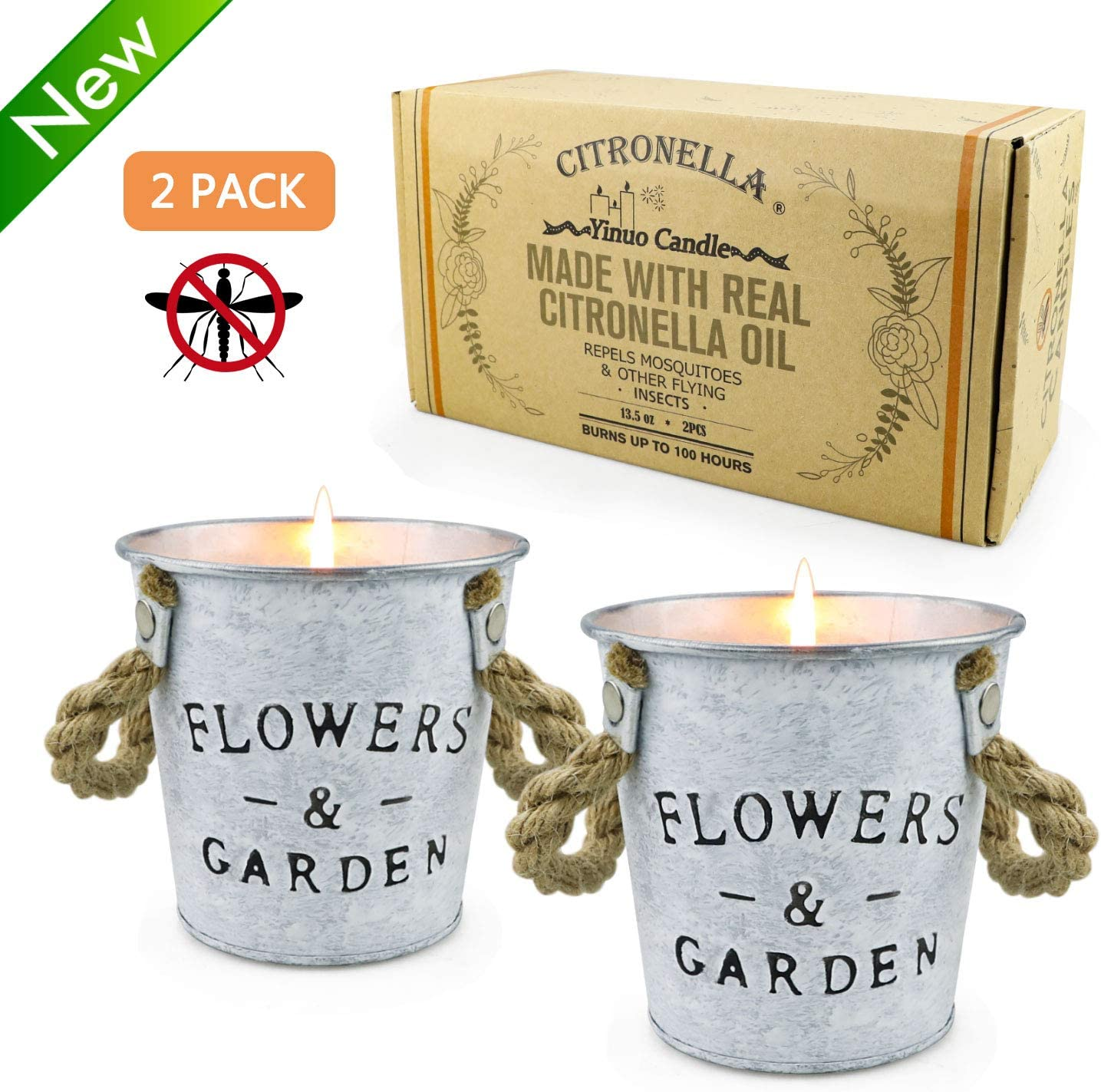 up to 50 hr CITRONELLA Bucket Candle