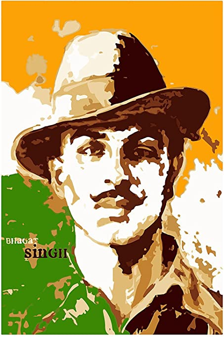 Mahalaxmi Art Bhagat Singh Abstract Hd Satin Wallpaper Amazonin
