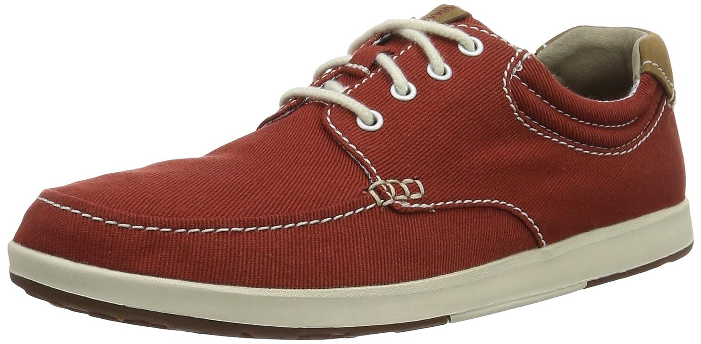 Clarks Norwin Vibe, Zapatillas para Hombre, Rojo (Red Textile), 44 EU