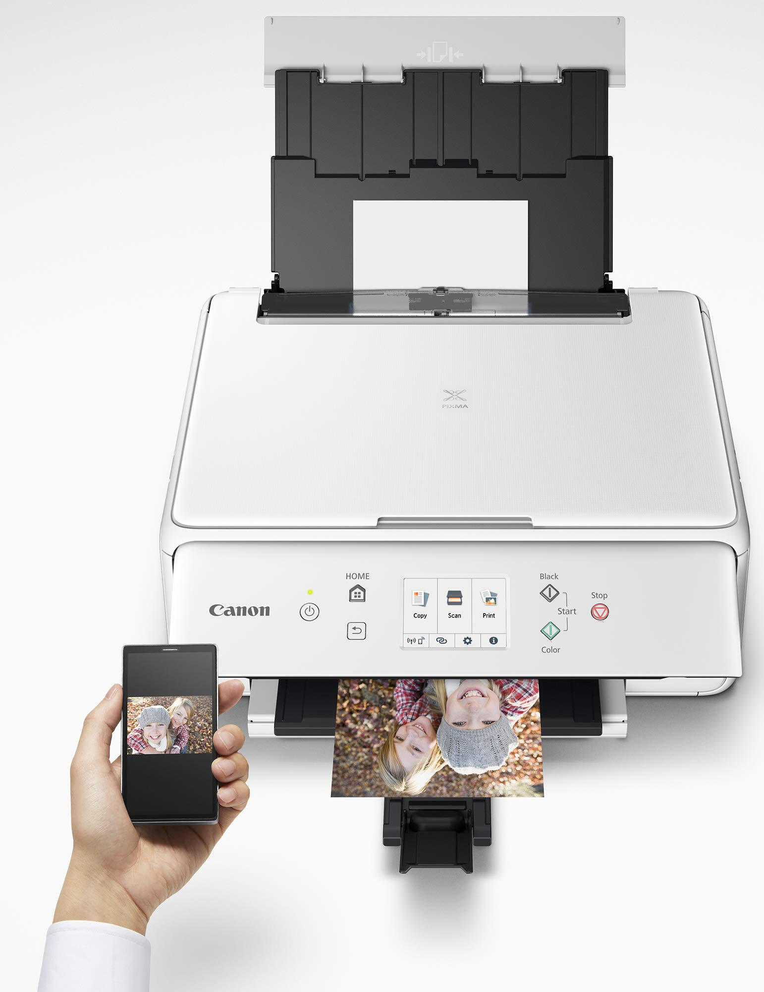 Canon PIXMA TS6220 Wireless All in One Printer with Mobile Printing, White by Canon (Image #4)