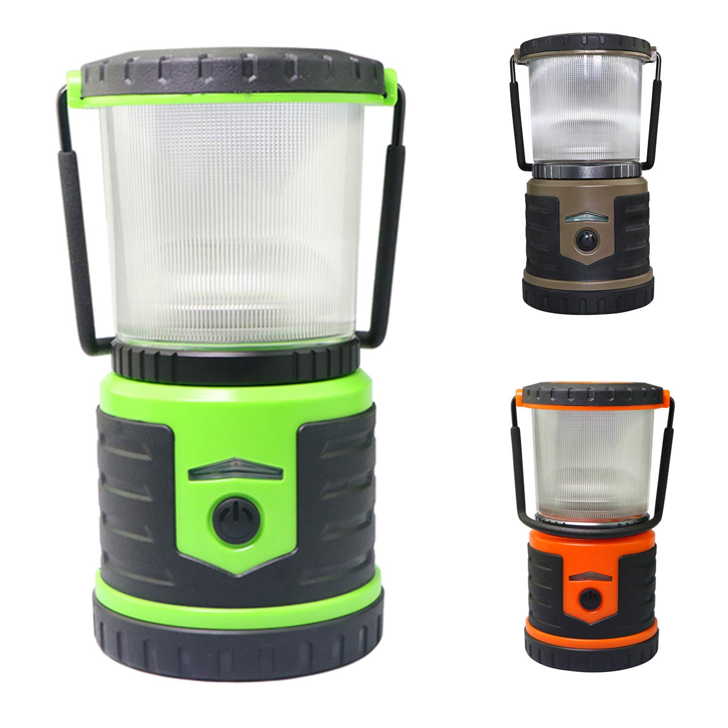 LED Lantern, Water resistant LED Camping Lantern Flashlight, Last 600 Hours D Cell Battery Powered Lantern for Home, Emergency, Outdoor, Roadside Use, Hurricanes, Outages, Storm (Green)