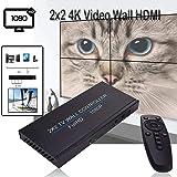 JKRED 2x2 4K Video Wall HDMI Processor IP Network