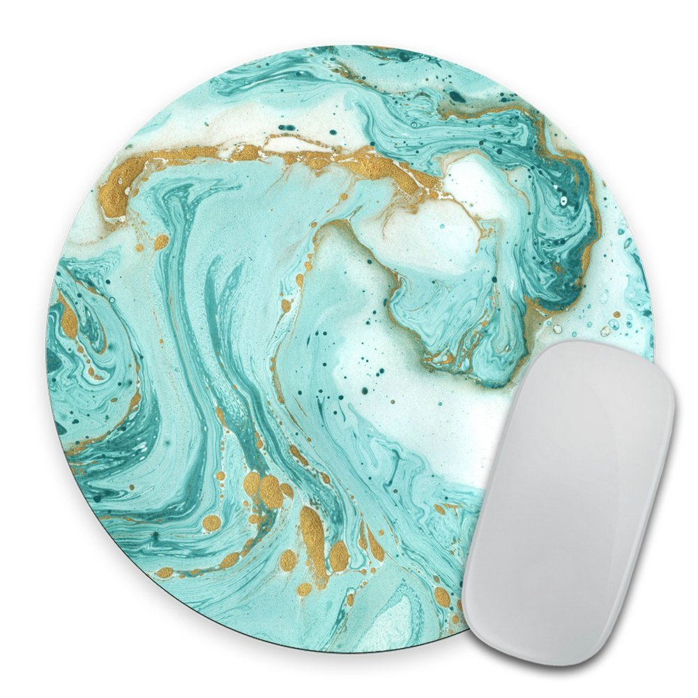 Marble Mousepad, Glitter Mousepad, Desk Decor, Office Accessories, Modern Mouse Pad, Personalized Mouse Pad, Round Mousepad, Cubicle Decor