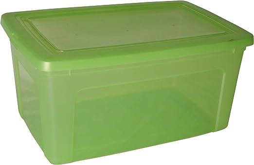 Caja de almacenamiento, caja de almacenaje, caja plastico Verde ...