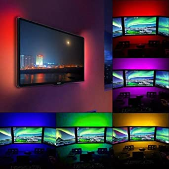 DRESS - Retroiluminación LED multifuncional, tira de luces LED, spritumn no impermeable, con USB, para televisor, cambio